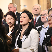 China Chamber of Commerce in the UK hosts China-UK United We Stand together to fights the #Covid19 regardless of the racist attacks China of #coronavirus has already infected in Europe - Italy at Guildhall, on 28th February 2020, London, UK.