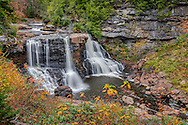The iconic Blackwater falls as shot from the main overlook in autumn, 10/14/2015.  West Virginia, USA.