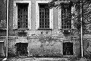 Edifici abbandonati dell' ex ospedale psichiatrico Santa Maria della Pieta' di Roma, 28 gennaio 2012<br /> Foto OneShot/Christian Mantuano