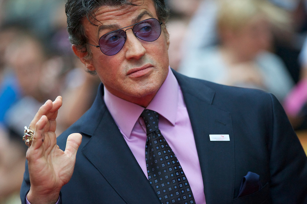 Actor and director Sylvester Stallone arrives for the premiere of 'The Expendables,' on Monday night, August 9, 2010, at the Odeon, Leicester Square in London.