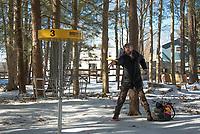 Chris Daigle Disc Golf course at Bolduc Park in Gilford, NH.   ©2021 Karen Bobotas Photographer