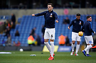 Ben White of Peterborough United warms up prior to the EFL Sky Bet League 1 match between Oxford United and Peterborough United at the Kassam Stadium, Oxford, England on 16 February 2019.