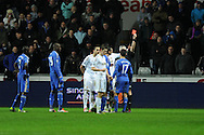 Chelsea's Eden Hazard (17) is sent off after incident with Swansea  city ballboy. Capital one cup semi final, 2nd leg, Swansea city v Chelsea at the Liberty Stadium in Swansea on Wednesday 23rd Jan 2013. pic by Andrew Orchard, Andrew Orchard sports photography,