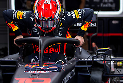 May 25, 2019 - Montecarlo, Monaco - Max Verstappen of Netherland and Red Bull Racing driver before the qualification session at Formula 1 Grand Prix de Monaco on May 25, 2019 in Monte Carlo, Monaco. (Credit Image: © Robert Szaniszlo/NurPhoto via ZUMA Press)