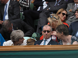 July 13, 2019 - London, England - LONDON, ENGLAND - JULY 13:  threasa may  attend the Women's Singles Final of the Wimbledon Tennis Championships at All England Lawn Tennis and Croquet Club on July 13, 2019 in London, England...People:  threasa may. (Credit Image: © SMG via ZUMA Wire)