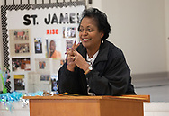 Sharon Lavinge at a  RISE St. James Revivial event on Convent, Louisiana on March 21, 2019.