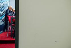 November 13, 2017 - Trnava, SLOVAKIA - 171113 Lars LagerbÅck, head coach of Norway, and Svein Graff, communications director of the Norwegian Football Association (NFF), during a press conference on November 13, 2017 in Trnava..Photo: Vegard Wivestad GrÂ¿tt / BILDBYRN / kod VG / 170056 (Credit Image: © Vegard Wivestad Gr¯Tt/Bildbyran via ZUMA Wire)