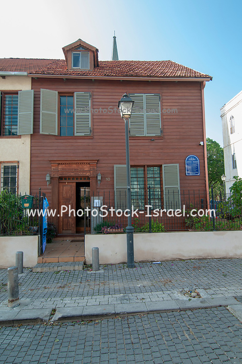 The American Colony of Tel Aviv is located in the south of the Tel Aviv, not far from Jaffa, This wooden house was fabricated in Maine, USA and brought by bout to Palestine in 1866