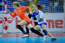 13-12-2019 JAP: Semi Final Netherlands - Russia, Kumamoto<br /> The Netherlands beat Russia in the semifinals 33-22 and qualify for the final on Sunday in Park Dome at 24th IHF Women's Handball World Championship / Estavana Polman #79 of Netherlands, Anna Vyakhireva #13 of Russia