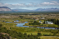 þingvellir National Park was the first national park in Iceland, and was founded in 1930 to protect the remains of the parliament site.  The park was later expanded to protect natural phenomena in the surrounding area.  It is a popular destination for those wanting to enjoy Aurora Borealis, the northern lights.