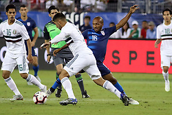 September 11, 2018 - Nashville, TN, U.S. - NASHVILLE, TN - SEPTEMBER 11:  United States midfielder Julian Green (16) defends the Mexican attack during the game between the United States National team and the Mexico National team on September 11, 2018 at Nissan Stadium in Nashville, Tennessee. (Photo by Michael Wade/Icon Sportswire) (Credit Image: © Michael Wade/Icon SMI via ZUMA Press)