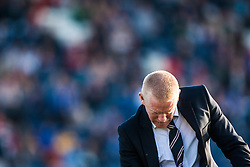 Falkirk's manager Gary Holt celebrates Kris Faulds scoring their goal.<br /> Raith Rovers 1 v 1 Falkirk, Scottish Championship 28/9/2013.<br /> ©Michael Schofield.