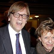 NLD/Amsterdam/20120309 - Boekpresentatie Een Krankzinnig Avontuur van Hans van Mierlo, Europarlementarier Guy Verhofstadt en Connie Palmen