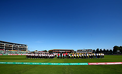 England Women and Sri Lanka Women line up for the national anthems ahead of their World Cup Match at Taunton - Mandatory by-line: Robbie Stephenson/JMP - 02/07/2017 - CRICKET - County Ground - Taunton, United Kingdom - England Women v Sri Lanka Women - ICC Women's World Cup Group Stage