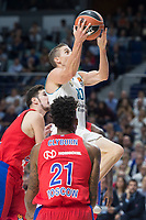 Real Madrid Jaycee Carroll and CSKA Moscu Nando de Colo and Will Clyburn during Turkish Airlines Euroleague match between Real Madrid and CSKA Moscu at Wizink Center in Madrid, Spain. October 19, 2017. (ALTERPHOTOS/Borja B.Hojas)
