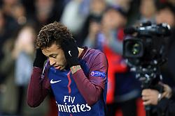 22 November 2017 -  UEFA Champions League (Group B) - Paris Saint-Germain v Celtic - Neymar of PSG under the gaze of the television cameras - Photo: Marc Atkins/Offside