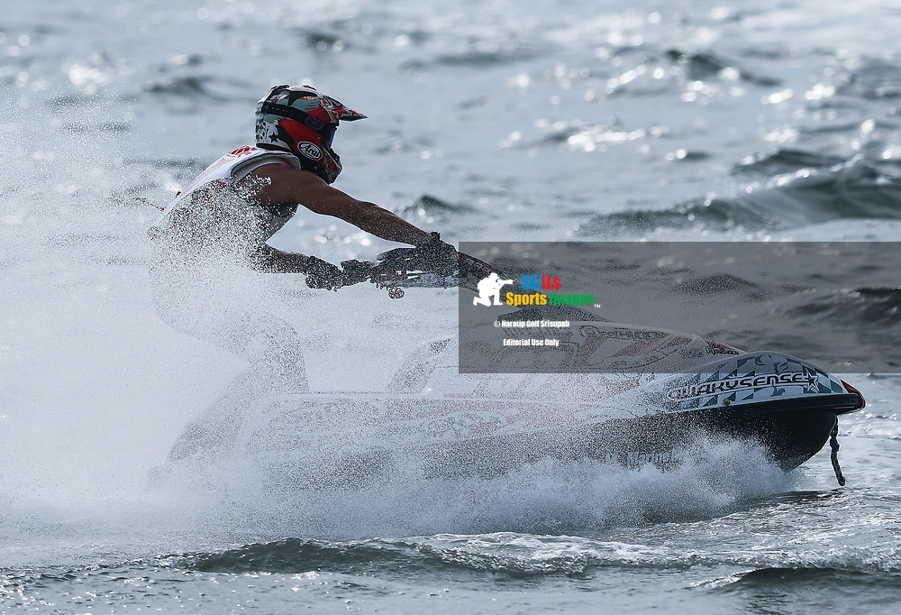 PATTAYA, THAILAND - DECEMBER 09: Hideyuki Kurahashi (97) of Japan and Marine Mechanic in action during the Pro Ski Grandprix Moto4 at the Thai Airways International Jet Ski World Cup 2018, Jomtien Beach, Pattaya, Thailand on December 09, 2018. <br /> .<br /> .<br /> .<br /> (Photo by: Naratip Golf Srisupab/SEALs Sports Images)<br /> .<br /> Any image use must include a mandatory credit line adjacent to the content which should read: Naratip Golf Srisupab/SEALs Sports Images