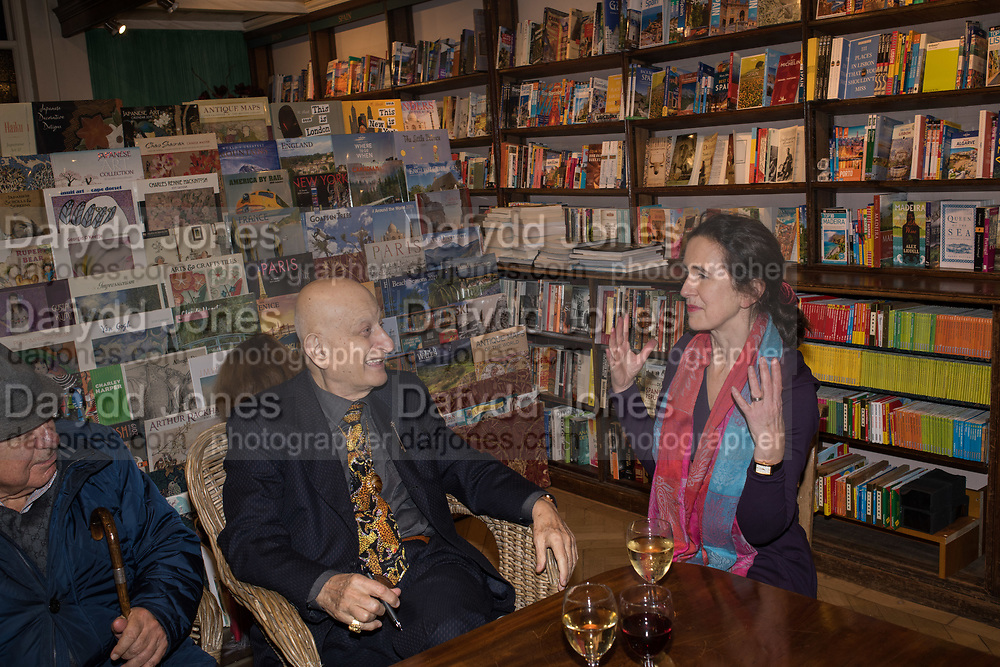 NAIM ATTALLAH; ROSAMOND LANGTON, book launch for No Longer With Us by Naim Attallah. Daunt books. Marylebone. London. 28 Novermber 2018