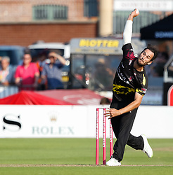 Somerset's Lewis Gergory<br /> <br /> Photographer Simon King/Replay Images<br /> <br /> Vitality Blast T20 - Round 1 - Somerset v Gloucestershire - Friday 6th July 2018 - Cooper Associates County Ground - Taunton<br /> <br /> World Copyright © Replay Images . All rights reserved. info@replayimages.co.uk - http://replayimages.co.uk