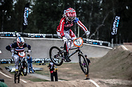 #11 (POST Alise) USA at the 2014 UCI BMX Supercross World Cup in Santiago Del Estero, Argentina.