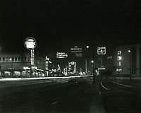 1954 Sunset Blvd. & Vine St. at night
