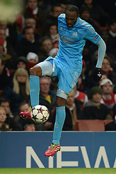 26.11.2013, The Emirates Stadium, London, ENG, UEFA CL, FC Arsenal vs Olympique Marseille, Gruppe F, im Bild Marseille's Kassim Abdallah // Marseille's Kassim Abdallah during UEFA Champions League group F match between FC Arsenal and Olympique Marseille at the The Emirates Stadium in London, Great Britain on 2013/11/26. EXPA Pictures © 2013, PhotoCredit: EXPA/ Mitchell Gunn<br /> <br /> *****ATTENTION - OUT of GBR*****