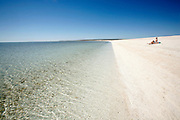 Shell Beach in Shark Bay Unesco World heritage area. This beach is made of shells and coral.