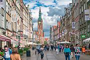 Gdańsk. Kamienice przy Długim Targu