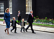 Gordon and Sarah Brown with their children on Downing Street.Gordon Brown resigns as the UK Prime Minister.