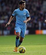 Jesus Navas of Manchester City<br /> - Barclays Premier League - Southampton vs Manchester City - St Mary's Stadium - Southampton - England - 30th November 2014 - Pic Robin Parker/Sportimage