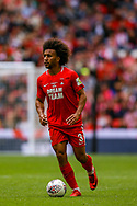 Leyton Orient defender Joe Widdowson  (3) during the FA Trophy final match between AFC Flyde and Leyton Orient at Wembley Stadium on 19 May 2019.
