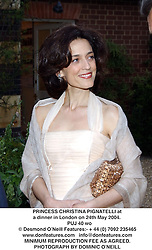 PRINCESS CHRISTINA PIGNATELLI at a dinner in London on 24th May 2004.<br /> PUJ 40 wo