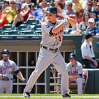 Chicago, IL - June 05, 2011:  Andy Dirks (12) bats against the Chicago White Sox at U.S. Cellular Field on June 5, 2011 in Chicago, IL.