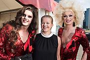 Amsterdam Diner 2019, actief een bijdrage te willen leveren aan een wereld zonder aids.<br /> <br /> Op de foto:  Prinses Mabel van Oranje
