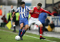 Photo: Paul Thomas.<br /> Chester City v Nottingham Forest. The FA Cup.<br /> 03/12/2005.<br /> <br /> Chesters Steward Drummond and Eugen Bopp.