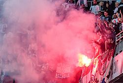 26.07.2017, Red Bull Arena, Salzburg, AUT, UEFA CL, FC Salzburg vs HNK Rijeka, Qualifikation, 3. Runde, Hinspiel, im Bild Rijeka Fans // during the UEFA Championsleague Qualifier 3rd round, 1st leg match between FC Salzburg and HNK Rijeka at the Red Bull Arena in Salzburg, Austria on 2017/07/26. EXPA Pictures © 2017, PhotoCredit: EXPA/ JFK