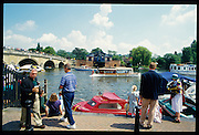Henley, GREAT BRITAIN,   GV looking across River Thames Henley Royal Regatta Headquarters, 2-6 July 1997, Henley, ENGLAND [Mandatory Credit, Peter Spurrier/Intersport-images] 1997 Henley Royal Regatta, Henley, Great Britain