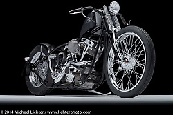 """Cole Roger's1972 Harley-Davidson 94"""" FX known as """"The Cafe Killer."""" Photographed by Michael Lichter on February 6, 2014 in Columbus, Ohio. ©2014 Michael Lichter"""