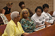 Gail LefBeouf and Sharon Lavigne on 4.29.2019  at St. James Parish Planning Commsions Meeting about the Wanhua Chemical Plant.
