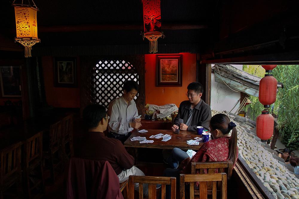Cafe scene, Lijiang, Yunnan, China