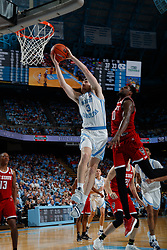 CHAPEL HILL, NC - FEBRUARY 25: Andrew Platek #3 of the North Carolina Tar Heels plays during a game against the North Carolina State Wolfpack on February 25, 2020 at the Dean Smith Center in Chapel Hill, North Carolina. North Carolina won 79-85. (Photo by Peyton Williams/UNC/Getty Images) *** Local Caption *** Andrew Platek