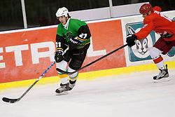 Jaka Avgustincic of Olimpija during Humanitarian hockey derby of legends between Olimpija and Jesenice, on 7 March 2014, in Hala Tivoli, Ljubljana, Slovenia. Photo by Urban Urbanc / Sportida.com