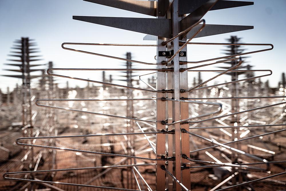 SKA's low frequency aperture array antennas in the Murchison region of Western Australia