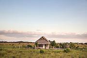 Typical indigenous community's house in Rupertee Village, North Rupununi Savannah (at border between brazil and Guyana).
