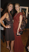 Tamara Mellon and Paris Hilton. 4 Inches, A  Photographic Auction in aid of the Elton John Aids Foundation hosted by Tamara Mellon and Arnaud Bamberger. Christie's. 8 King St. London. 25 May 2005. ONE TIME USE ONLY - DO NOT ARCHIVE  © Copyright Photograph by Dafydd Jones 66 Stockwell Park Rd. London SW9 0DA Tel 020 7733 0108 www.dafjones.com