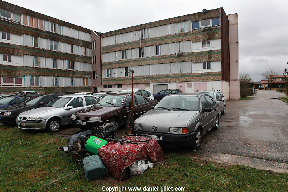 Centre d'accueil de demandeurs d'asile a Blyes, Ain.  Welcoming center for asylum seekers, in Blyes, Ain