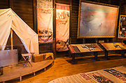 Interpretive display at Verkamp's Store, Grand Canyon National Park, Arizona USA
