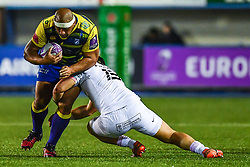 Tau Filise of Cardiff Blues is tackled by Jarrod Poi of Toulouse - Mandatory by-line: Craig Thomas/JMP - 14/01/2018 - RUGBY - BT Sport Cardiff Arms Park - Cardiff, Wales - Cardiff Blues v Toulouse - European Rugby Challenge Cup