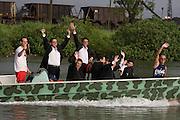 Banda Marcial de Cubatão leaving the mangrove swamps