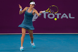 February 9, 2019 - Doha, QATAR - Bernarda Pera of the United States in action during qualifications at the 2019 Qatar Total Open WTA Premier tennis tournament (Credit Image: © AFP7 via ZUMA Wire)